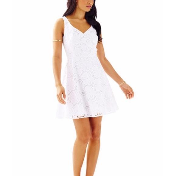 c886cecd1501fc Lilly Pulitzer Dresses | Marla White Eyelet Dress | Poshmark